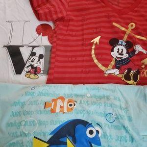 Bundle of three disney shirts